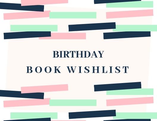 2019 Birthday Book Wish List