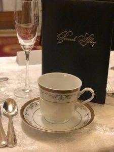 Tea cup and Afternoon Tea menu at the Willard Intercontinental