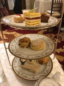 An assortment of cakes, scones, and tea sandwiches at Afternoon Tea at the Willard Intercontinental