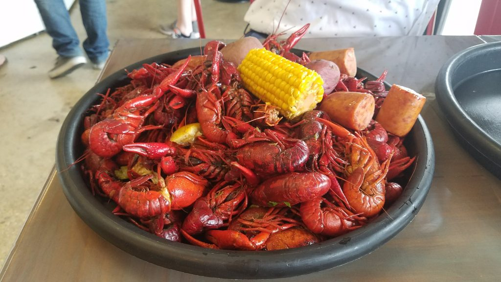 A few pounds of crawfish from Bevi Seafood