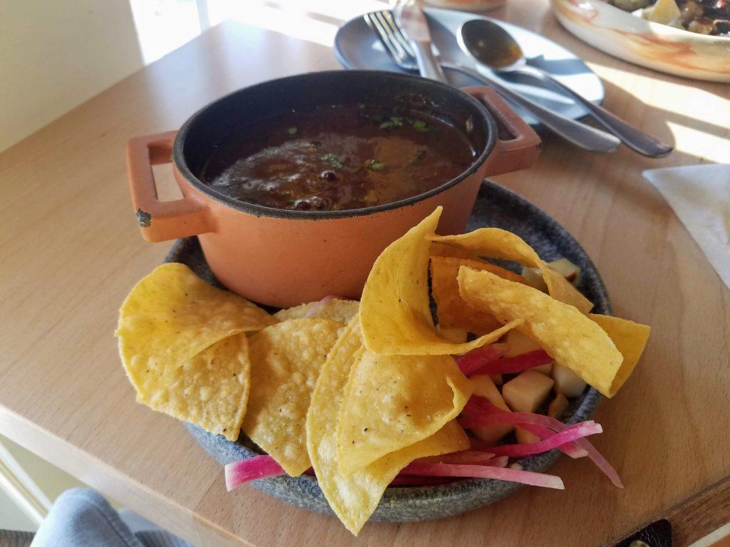Duck tortilla soup from Buena Vida in Silver Spring
