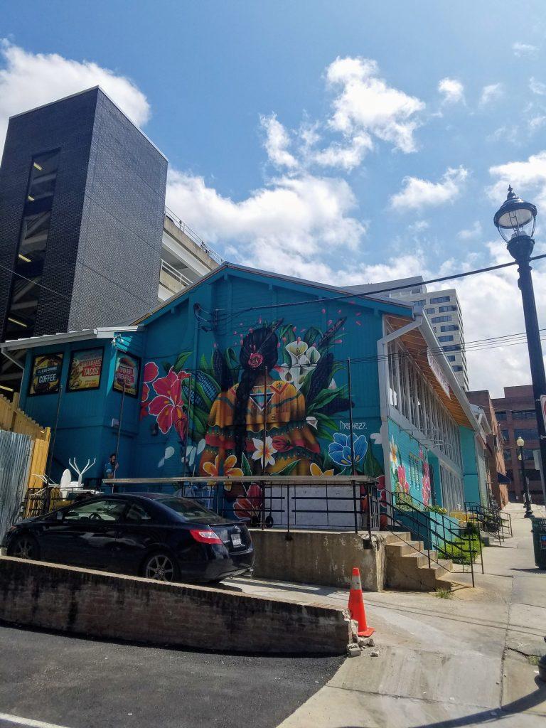 Mural outside Buena Vida in Silver Spring
