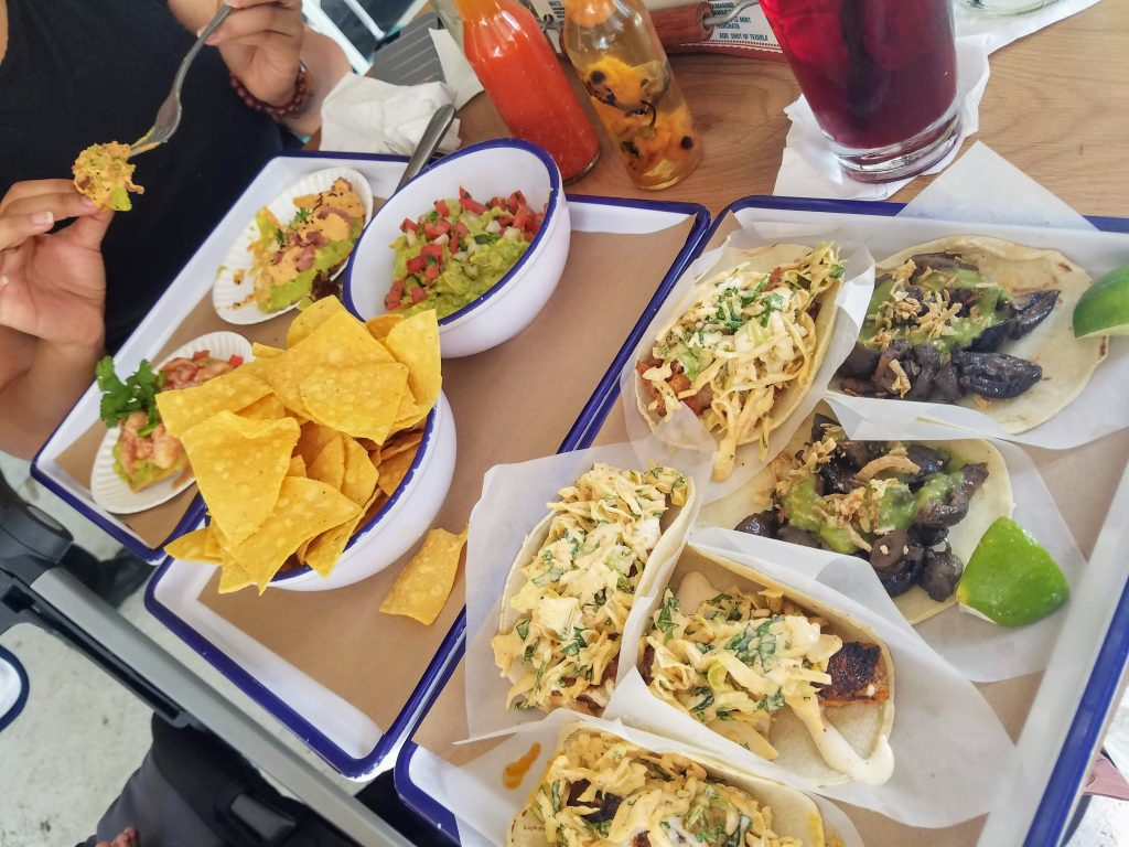 Tacos, tostadas, and guacamole from Tacos, Tortas, and Tequila in Silver Spring