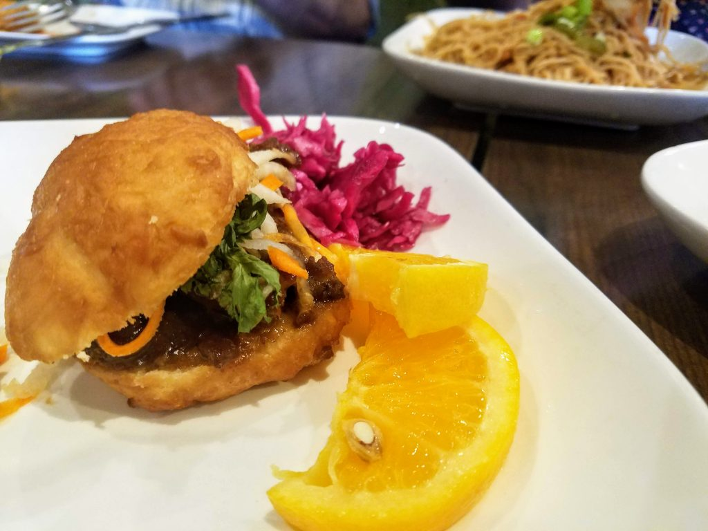 Beef slider from Mosa Asian Bistro in Memphis