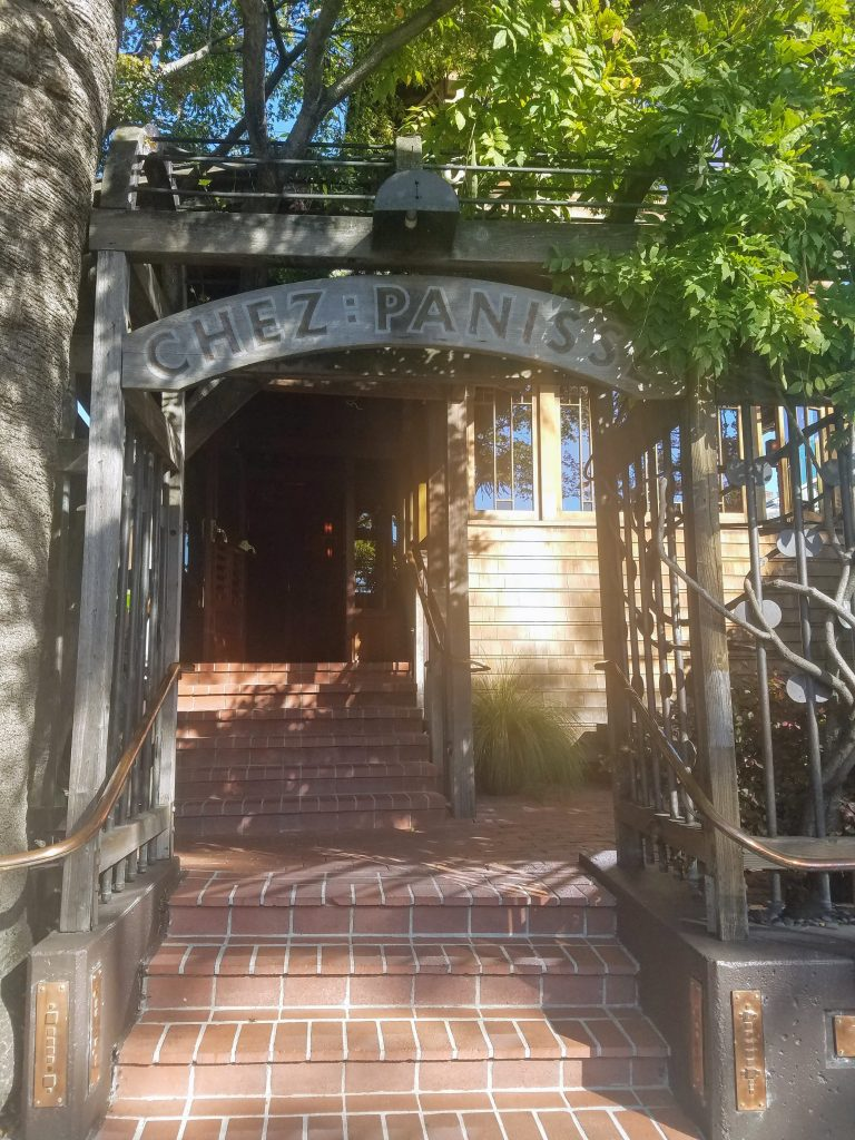 outside doorway to Chez Panisse