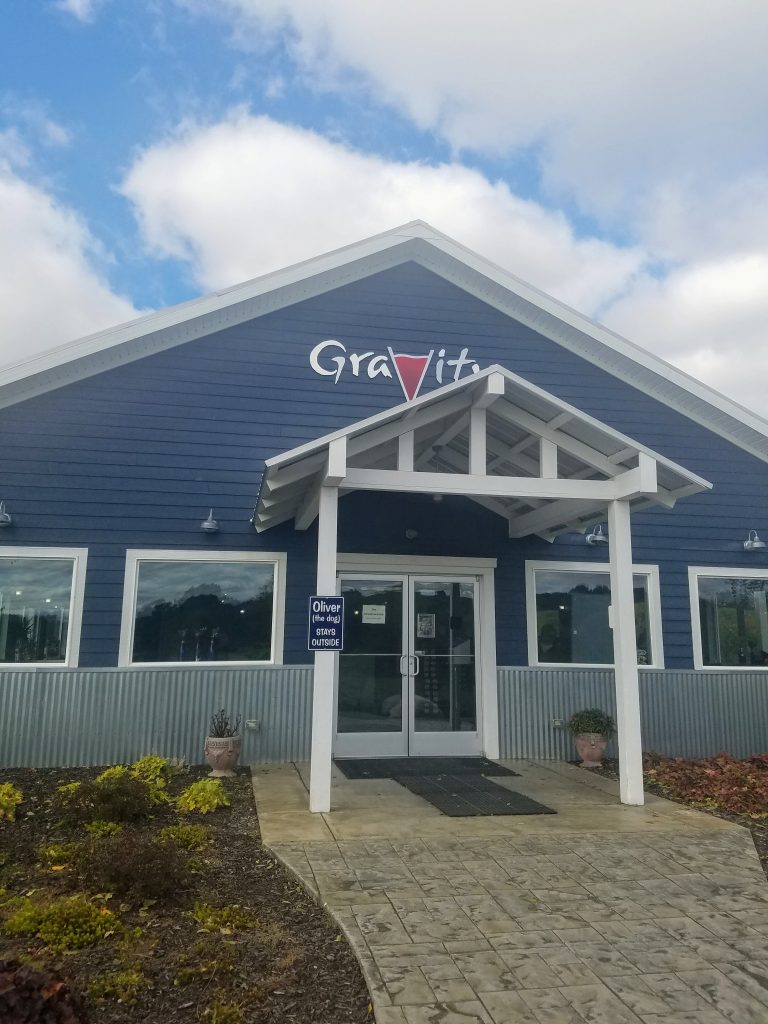Entrance to Gravity winery in Michigan