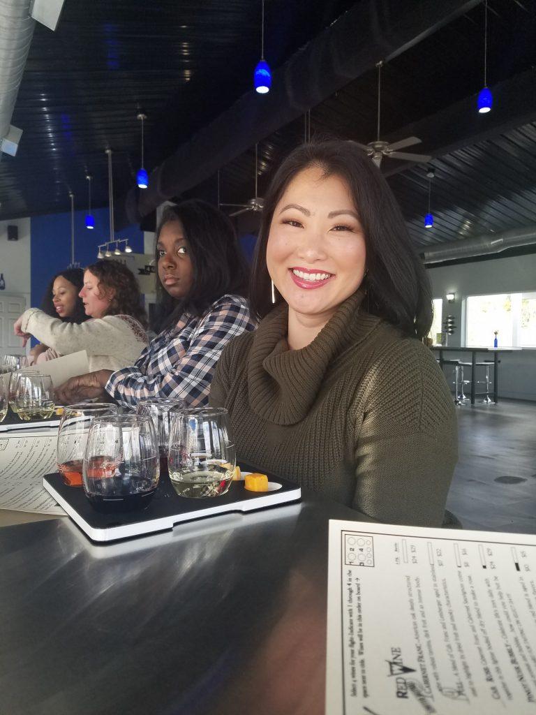 Wine tasting at Gravity winery in Michigan
